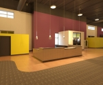 Revit planet fitness reception desk